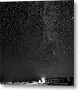 Autumn Night - Sauble Beach - Two Galaxies Bw Metal Print