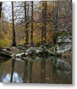 Autumn On The Kings River Metal Print