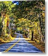 Autumn Paved Metal Print