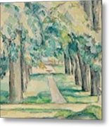 Avenue Of Chestnut Trees At The Jas De Bouffan  Metal Print