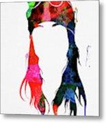 Axl Rose Watercolor Metal Print