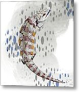 B Is For Blue Tongue Lizard Metal Print