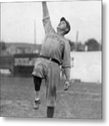 Babe Ruth Catches Fly Ball Metal Print