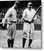 Babe Ruth Lou Gehrig 1923 Metal Print