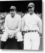 Babe Ruth Lou Gehrig Yankee Stadium Metal Print