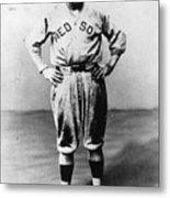 Babe Ruth Red Sox Ff Portrait Metal Print