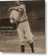 Babe Ruth Special Tour Postcard Metal Print
