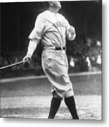 Babe Ruth Watches One Fly Metal Print