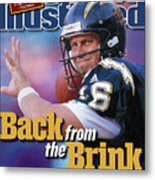 Back From The Brink Now Starting At Quarterback For The San Sports Illustrated Cover Metal Print