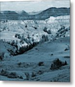 Badlands Shadows And Sunlight Metal Print
