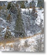 Badlands Winter Metal Print