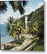 Bahamanian Hotel Metal Print