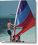 Bahamas Windsurfing Metal Print