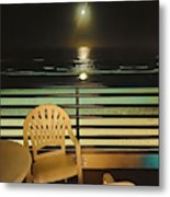 Balcony On The Pacific Oceanside California  Metal Print