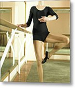 Ballet Dancer 13-14 Practicing In Dance Metal Print