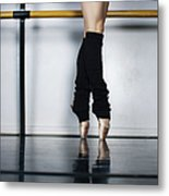 Ballet Holdiing Bar In Classic Pointe Metal Print
