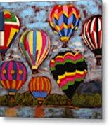 Balloon Family Metal Print