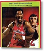 Baltimore Bullets Gus Johnson And New York Knicks Dave Sports Illustrated Cover Metal Print