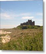 Bamburgh Castle And Beach In Summer Metal Print