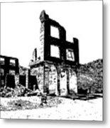 Bank Rhyolite Ghost Ghost Nevada Metal Print