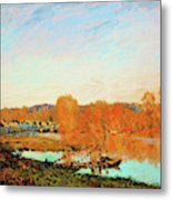 Banks Of The Seine Near Bougival - Digital Remastered Edition Metal Print