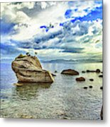 Bansai Rock, Lake Tahoe, Nevada, Panorama Metal Print