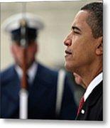 Barack Obama Is Sworn In As 44th Metal Print