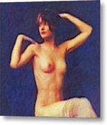 Barbara Stanwyck, Vintage Movie Star Nude Metal Print