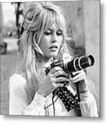 Bardot During Viva Maria Shoot Metal Print