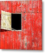 Barn Door Open Metal Print