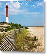 Barnegat Lighthouse, Sand, Beach, Dune Metal Print