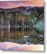 Basin Lake Sunset Metal Print