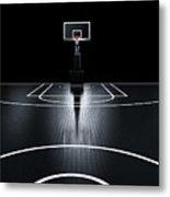 Basketball Court. Photorealistic 3d Metal Print