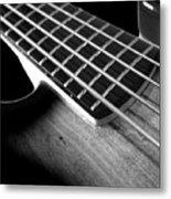 Bass Guitar Musician Player Metal Rock Body Metal Print