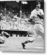 Batter Stan Musial And Catcher Wes Metal Print