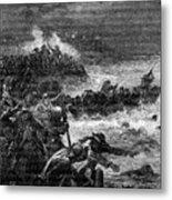 Battle Of Quiberon, 1898. Artist Barbant Metal Print
