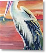 Bayou Pelican / Modern Ibis Metal Print