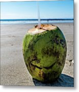Beach Coconut Metal Print