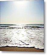 Beach In California On Pacific Ocean Metal Print