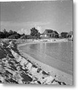 Beach Sand Cove Metal Print