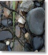 Beach Kanji Metal Print