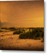 Beach Storm Front Metal Print
