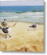 Beach Stroll Metal Print