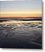 Beach Sunset, Blackpool, Uk 09/2017 Metal Print