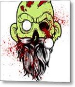 Bearded Zombie Undead With Beard Halloween Party Light Metal Print