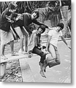 Beatles In La Metal Print