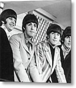 Beatles Press Conference Metal Print