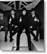Beatles Thumbs Up Metal Print