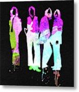 Beatles Watercolor II Metal Print