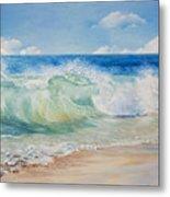 Beautiful, Blue, Tropical Sea And Beach Metal Print